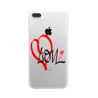 LovE❤️ Clear smartphone cases