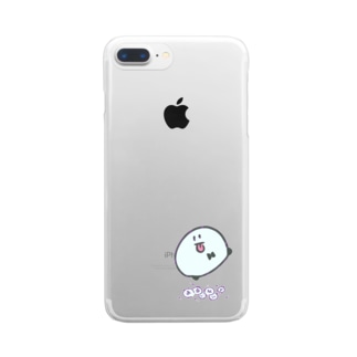 まるいなにか Clear smartphone cases