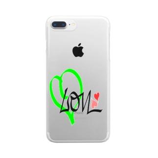 レモン 💚ラブ Clear smartphone cases