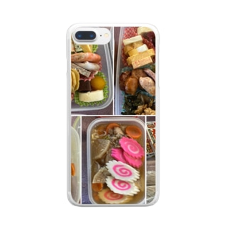 御節料理 カラー(柚 YUZU オリジナル) Clear smartphone cases