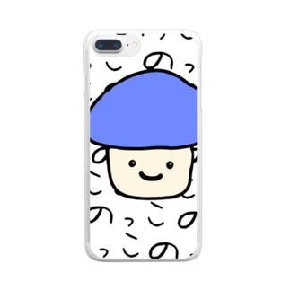 きのこののっこさん Clear smartphone cases
