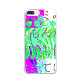 パターン002:歪み Clear smartphone cases
