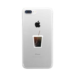 コーヒー Clear smartphone cases