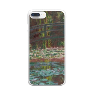クロード・モネ 「睡蓮の池」 印象派 絵画プリント Clear smartphone cases