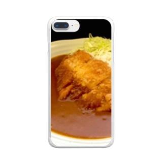 カツカレーに夢中 Clear smartphone cases