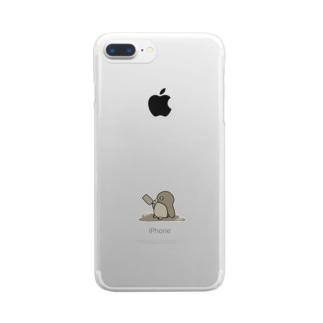 チョコレートペンギン Clear smartphone cases
