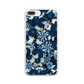 瑠璃×月白 Clear smartphone cases
