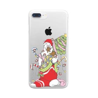 クリスマスだ!シロクマだ! (メニー?クリスマス) Clear smartphone cases