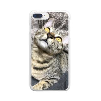 すごいかお Clear smartphone cases