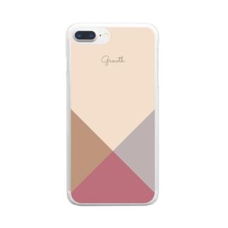 シンプル/バーガンディ Clear smartphone cases