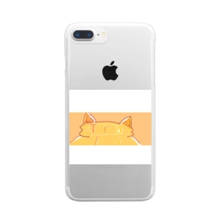 白枠付き!Tra ねこみみマーク Clear smartphone cases