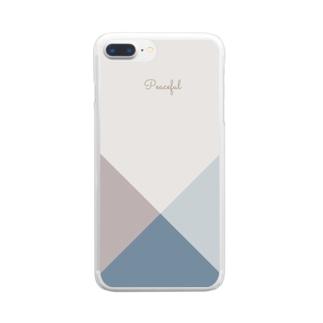 シンプル/ブルー Clear Smartphone Case