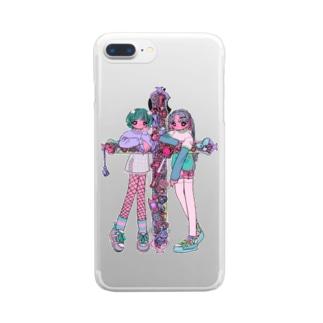 十字架乙女シリ〜ズ Clear smartphone cases
