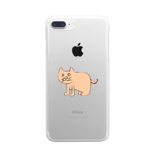 左向きの動物 Clear smartphone cases