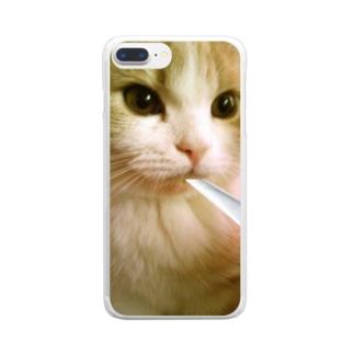 ジョル猫Chillスマホケース Clear smartphone cases