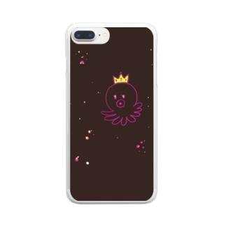 スペイシーたっこ Clear smartphone cases