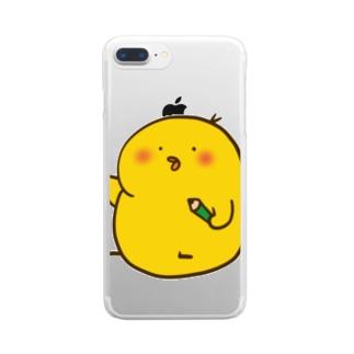 えんぴつひよこ Clear smartphone cases