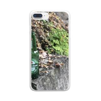 横須賀の野良ハイネケン Clear smartphone cases
