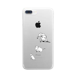 ワイルドだろ?! Clear smartphone cases