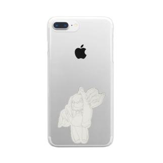 うさぎちゃん Clear smartphone cases