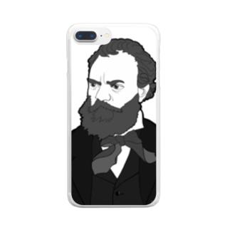 ドボルジャーク先生 Clear smartphone cases