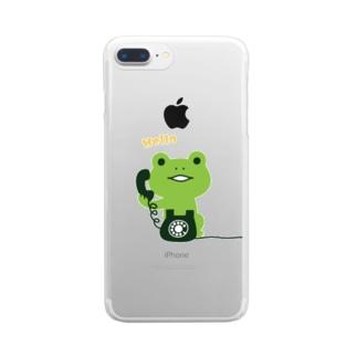 かえるコール Clear smartphone cases