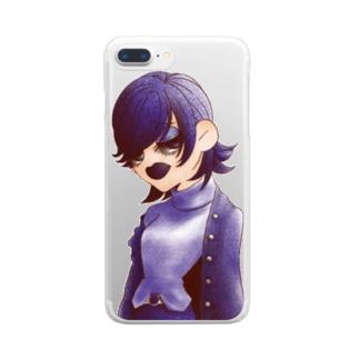 紫の強い女 Clear smartphone cases