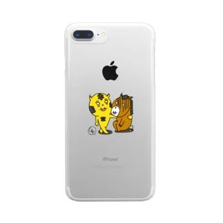 タイガーホース Clear smartphone cases