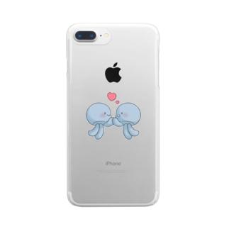 ハッピーぷるもくん Clear smartphone cases