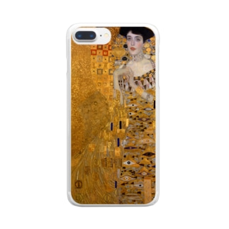 グスタフ・クリムト(Gustav Klimt) / 『アデーレ・ブロッホ=バウアーの肖像 I』(1907年) Clear Smartphone Case