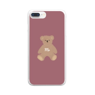 me クマさん Clear smartphone cases