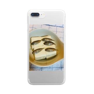 藤崎さんの♾️飯(スクガラス編) Clear smartphone cases