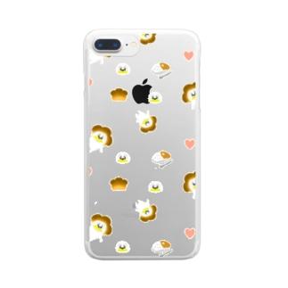 ゆらめくカレー脳 Clear smartphone cases