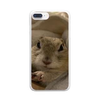 ちょっぴり不機嫌きなこ様 Clear smartphone cases