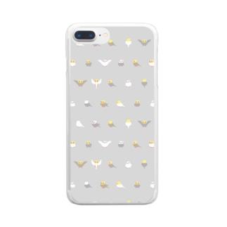 ちみまめオカメインコちゃん【まめるりはことり】 Clear smartphone cases