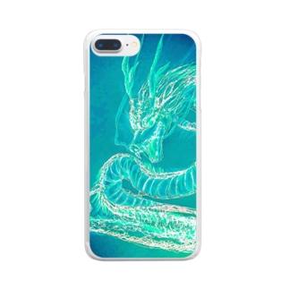 龍神COLOR碧 Clear smartphone cases