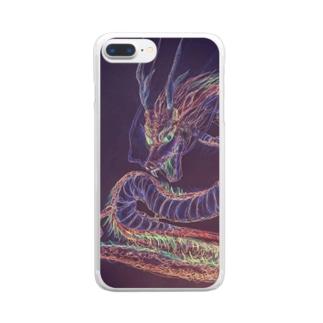 龍神COLORネガ Clear smartphone cases