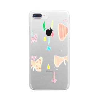 りぼんちょうちょ Clear Smartphone Case