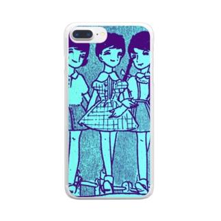 昭和の三人娘 Clear smartphone cases