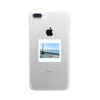 海岸のひととき Clear smartphone cases
