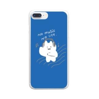 音楽ねこ Clear smartphone cases
