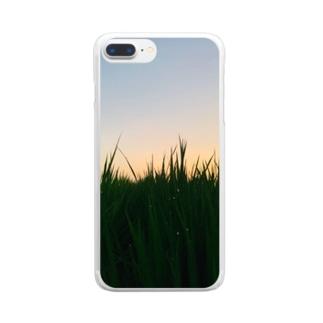 熊本の草 Clear smartphone cases
