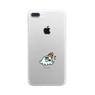 ぺろりんあいす Clear smartphone cases