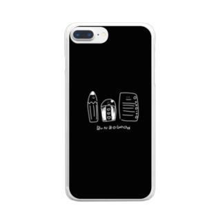 文房具たち Clear smartphone cases