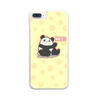 陽気なパンダ🐼 Clear smartphone cases
