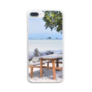 ミクロネシア:リーフが見える浜辺の風景 Micronesia: seaside of Pohnpei Clear smartphone cases