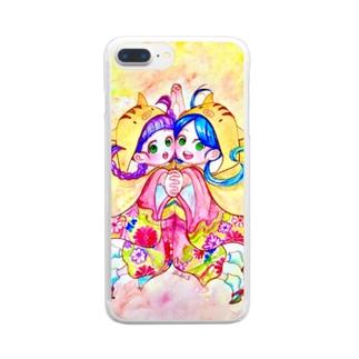 うりぼうずきんのふたごちゃん✳︎ Clear smartphone cases