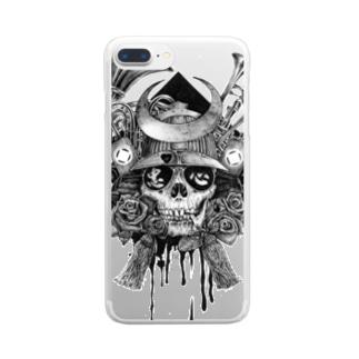 骷髏武士スマホケース Clear smartphone cases