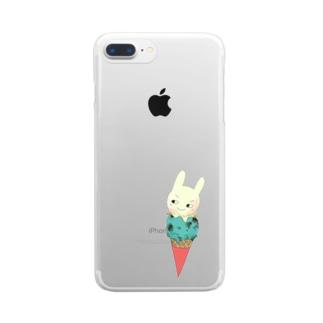 アイスのぽんきち Clear Smartphone Case
