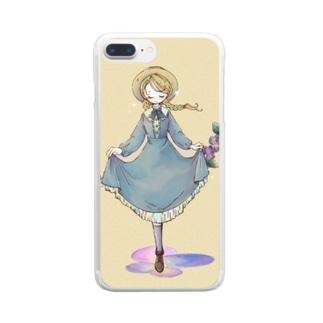 三色スミレ Clear smartphone cases